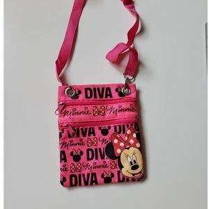 Disney's Minnie Mouse Diva Crossbody Travel Purse